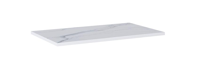 Blat naszafkowy pełny 80 cm Elita ElitStone MARMUR CALACATTA WHITE MATT