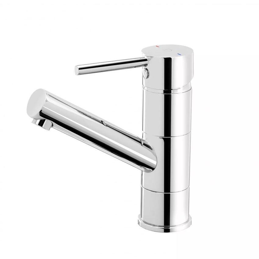 Bateria umywalkowa stojąca z korkiem click-clack i ruchomą wylewką FDesign Flusso