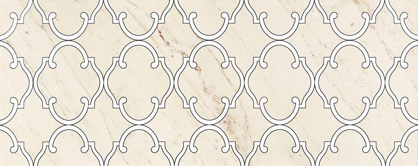 Dekor ścienny 74,8x29,8 cm Tubądzin Larda white