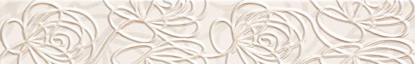 Listwa ścienna 44,8x7,1 cm Tubądzin Wave Modern white