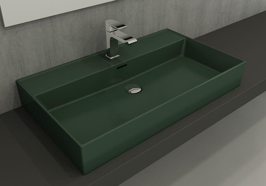 Umywalka meblowa/nablatowa/wisząca 80 cm Matte Green Bocchi Milano