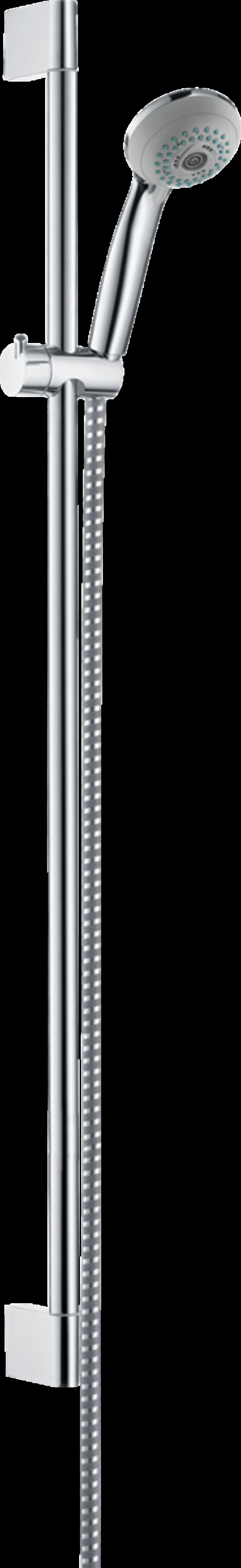 Punktowy zestaw prysznicowy Multi z drążkiem 90 cm Hansgrohe Crometta 85