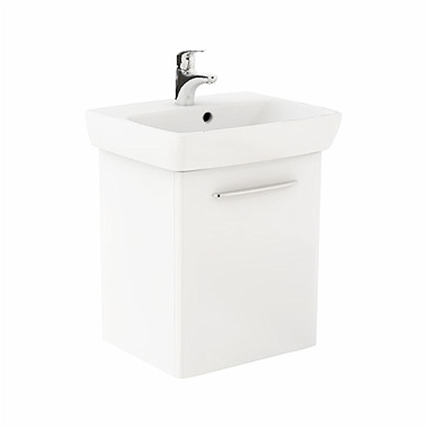 Szafka z umywalką 55 cm biały połysk Koło Nova Pro