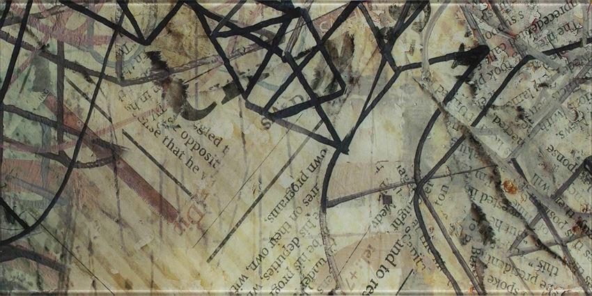 Dekoracje ścienne szklane 30x60 cm Paradyż Ermeo inserto B