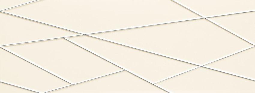 Dekor ścienny 89,8x32,8 cm Tubądzin House of Tones white