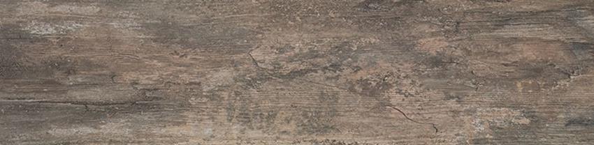Płytka ścienno-podłogowa 29,5x119,5 cm Paradyż Wetwood Brown Płyta Tarasowa 2.0