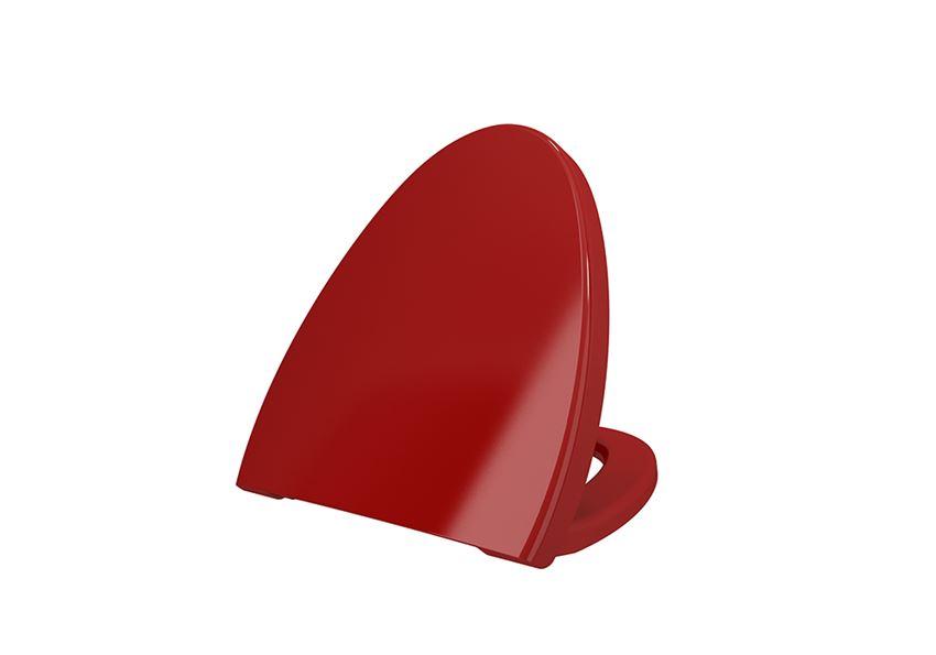 Deska WC duroplast wolnoopadająca Glossy Red Bocchi Etna