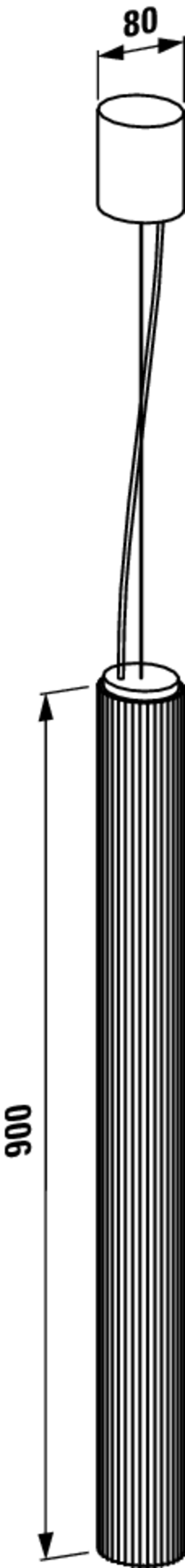 Lampa wisząca 90 cm Laufen Kartell rysunek techniczny