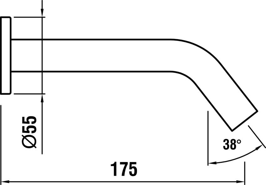 Wylewka ścienna Laufen Kartell rysunek techniczny