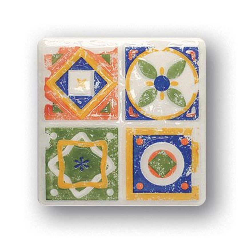 Dekor ścienny 11x11 Tubądzin Majolika Quartet