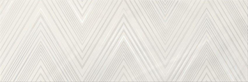 Płytka ścienna 20x60 cm Cersanit Markuria white lines inserto matt