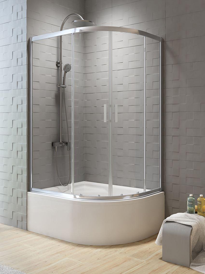 Półokrągła kabina prysznicowa asymetryczna New Trendy New Varia