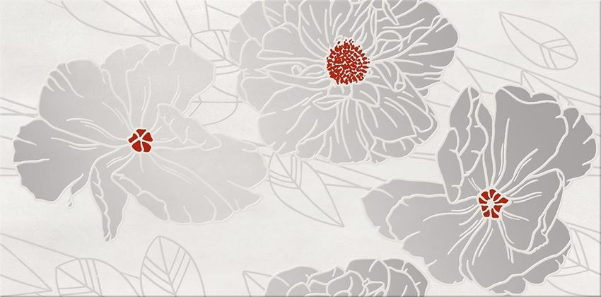 Cersanit Grissa Grey Inserto Flower OD692-002