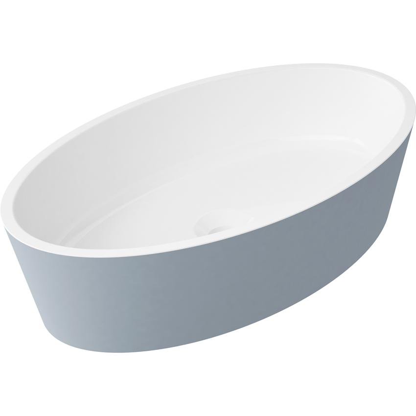 Umywalka bez otworu 50x30x12,4 cm Omnires Siena