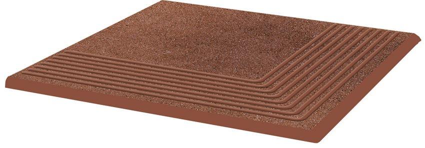 Płytka stopnicowa 30x30 cm Paradyż Taurus Brown Stopnica Narożna