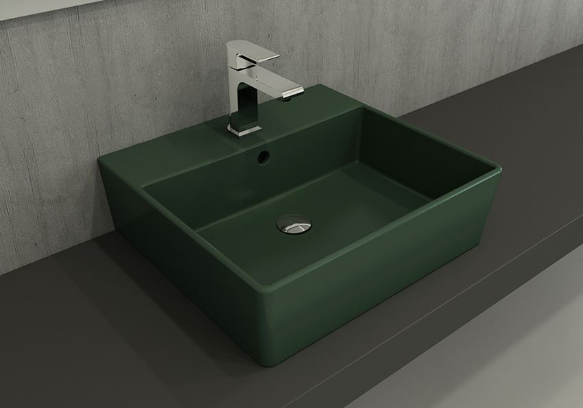 Umywalka meblowa/nablatowa/wisząca 50 cm Matte Green Bocchi Milano