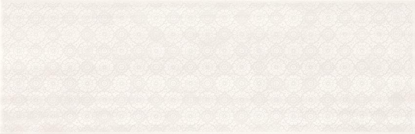 Płytka dekoracyjna 24x74 cm Cersanit Ferano white lace inserto satin