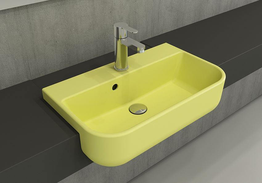 Umywalka meblowa/nablatowa 56x34 cm Matte Yellow Bocchi Milano