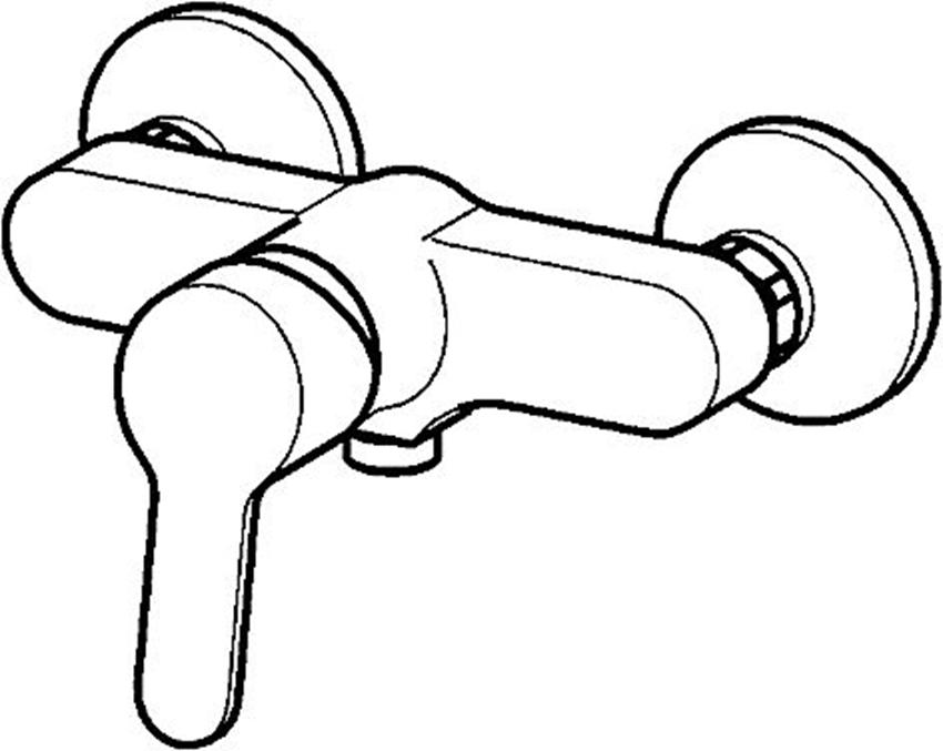 Bateria natryskowa Oras Aquita rysunek