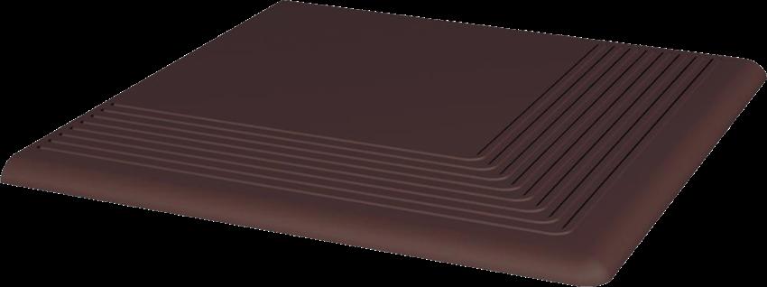 Płytka stopnicowa 30x30 cm Paradyż Natural Brown Stopnica Narożna