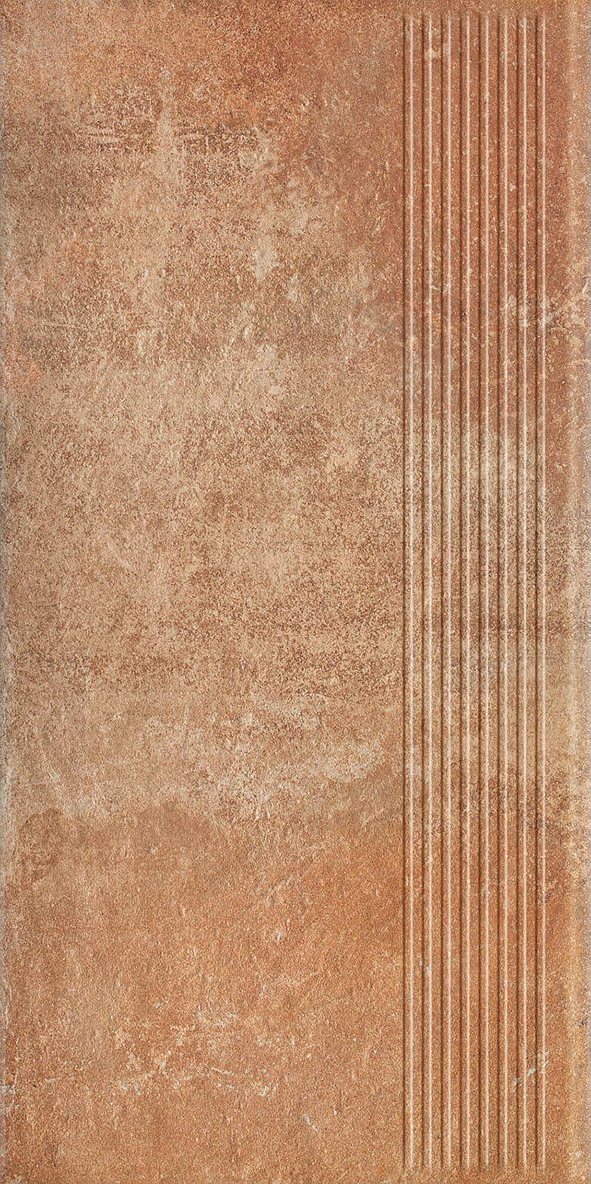 Płytka stopnicowa 30x60 cm Paradyż Scandiano Rosso Stopnica Prosta
