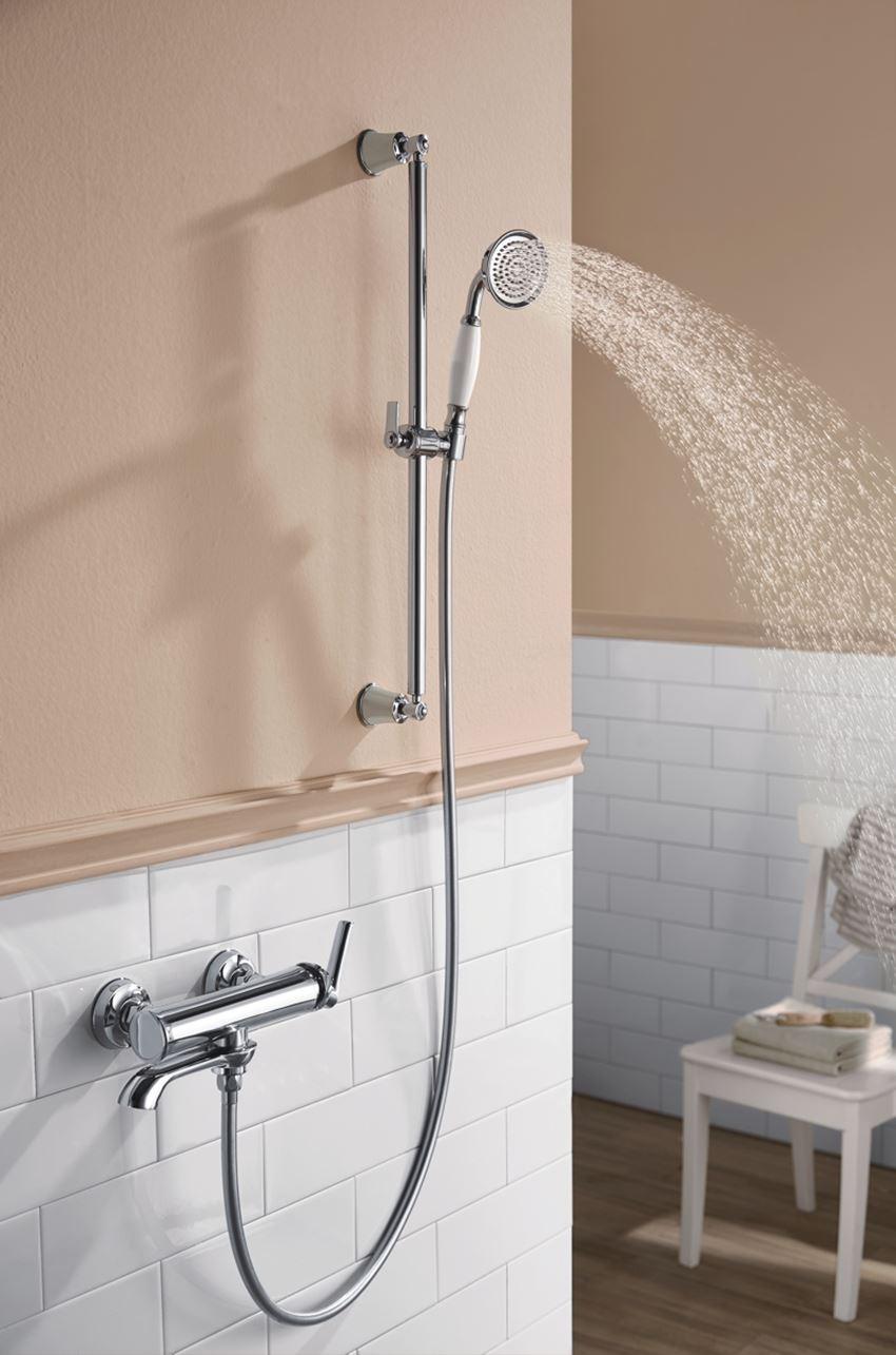 Zestaw prysznicowy suwany 1-funkcyjny chrom Omnires Armance-SCR