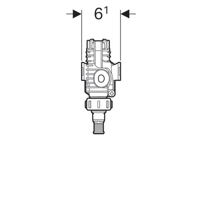 Zawór napełniający typ 380 Geberit rysunek