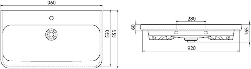 CeraStyle Modus 082300-u rys techniczny