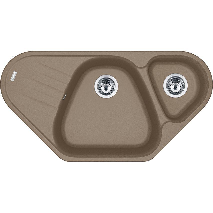 Zlewozmywak 1,5-komorowy z ociekaczem Franke Antea AZG 661-E Cappuccino