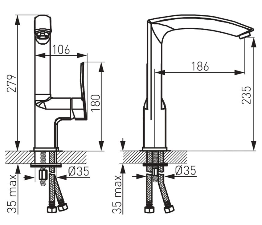 Bateria kuchenna ECO chrom FDesign Avanza rysunek