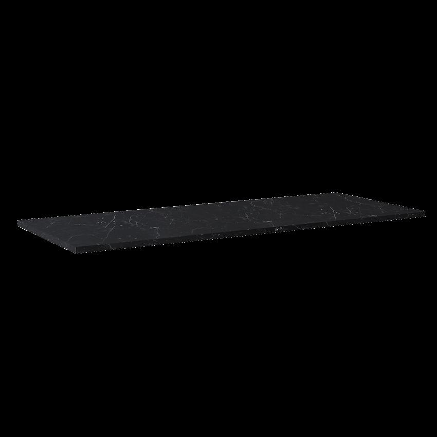 Blat naszafkowy pełny 140(70+70) cm Elita ElitStone MARMUR MARQUINA BLACK MATT