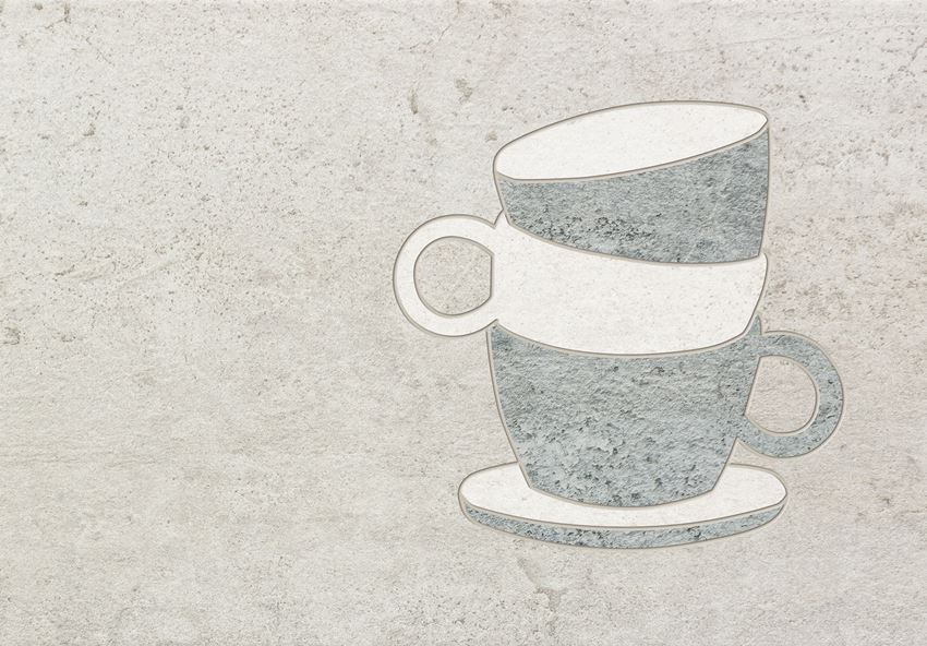 Dekor ścienny 36x25 cm Domino Gris Coffee cup