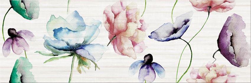 Płytka ścienna, 25x75 cm Opoczno Elegant Stripes Multicolour Inserto Flower