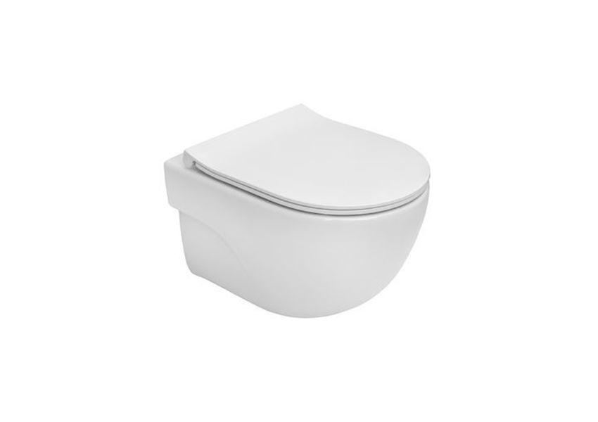 Miska WC podwieszana Compacto Rimless z deską wolnoopadającą SLIM Roca Meridian