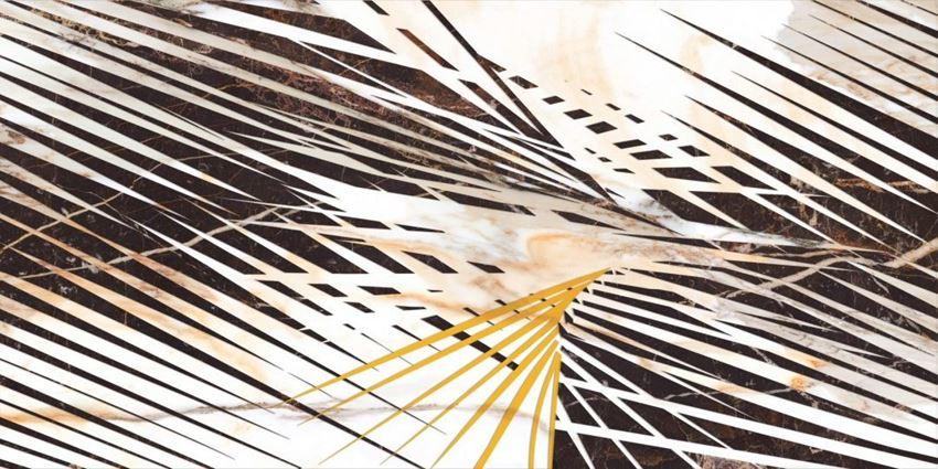 Płytka dekoracyjna 60x120 cm Cerrad Calacatta gold decor A Poler