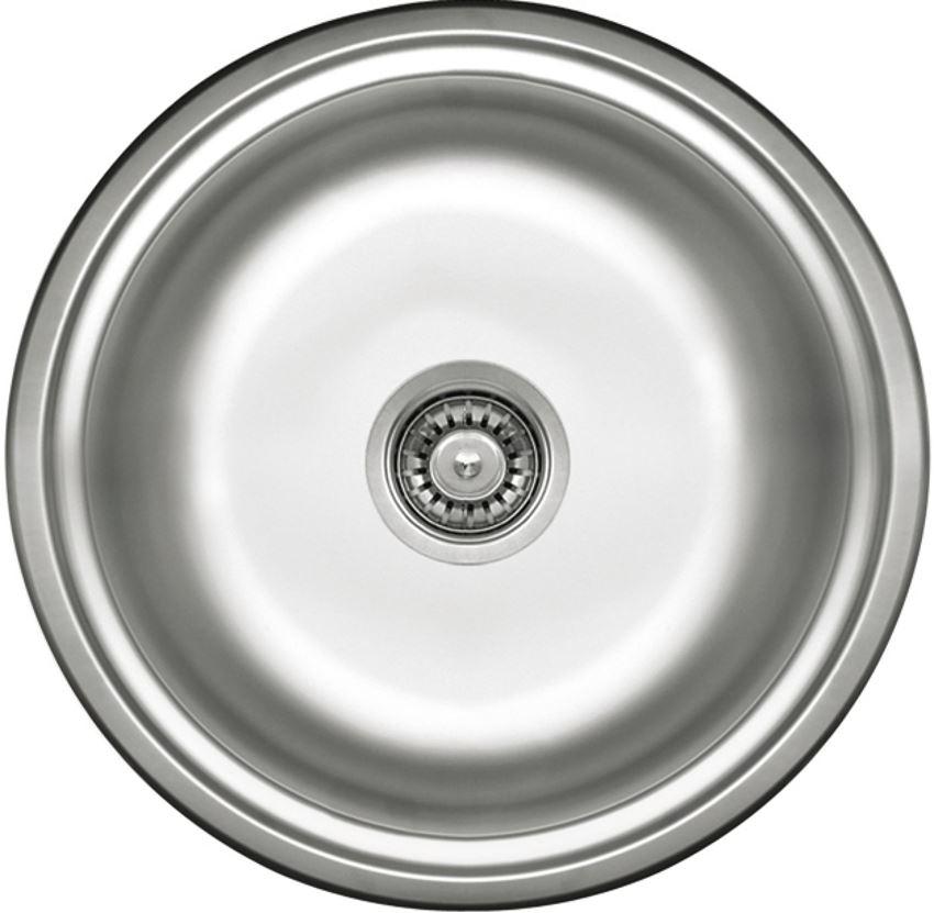 Zlewozmywak 1-komorowy okrągły bez ociekacza dekor Deante Twist