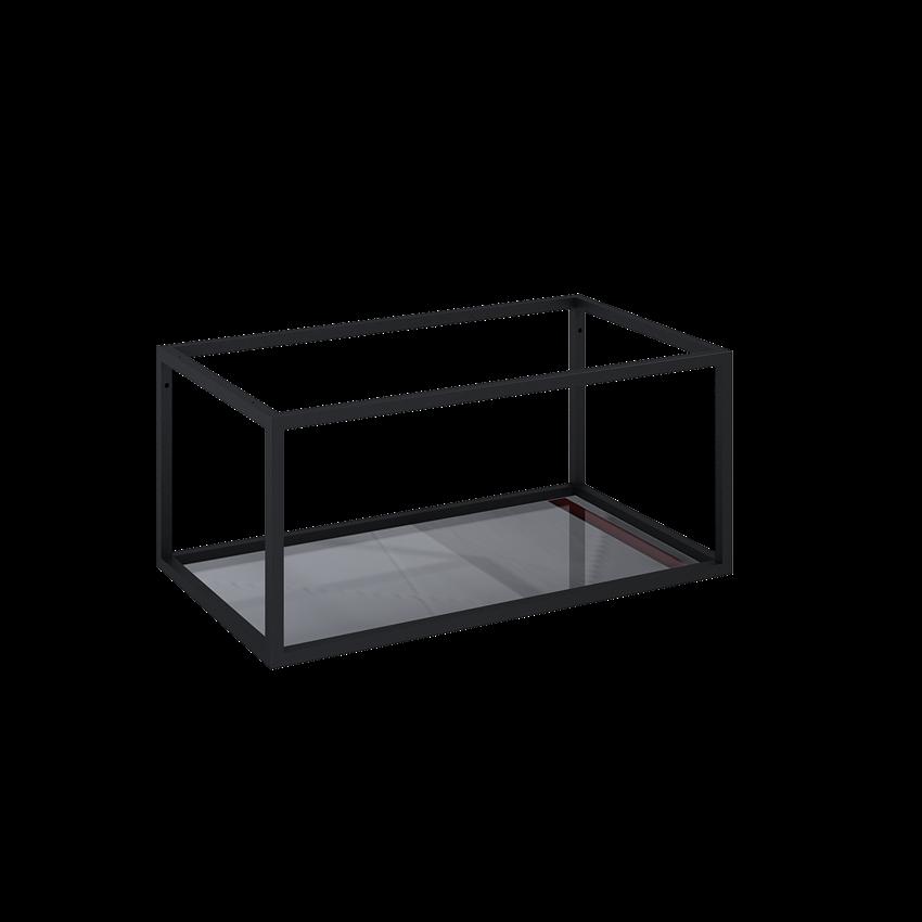 Stelaż podszafkowy z półką szklaną 80 cm Elita Look Black