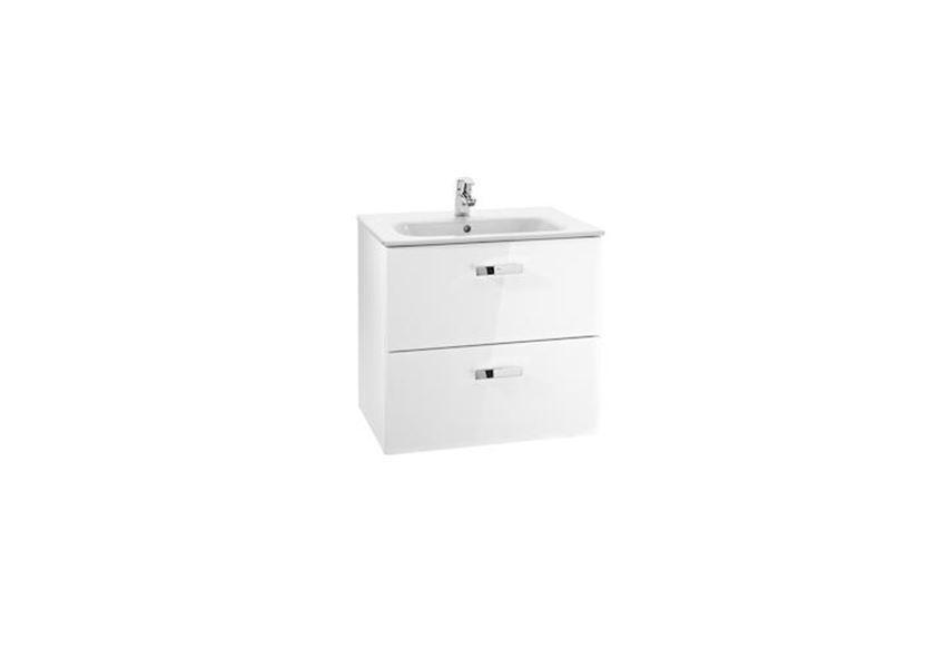 Biały zestaw łazienkowy Unik z 2 szufladami 70x46x56,5 cmRoca Victoria Basic