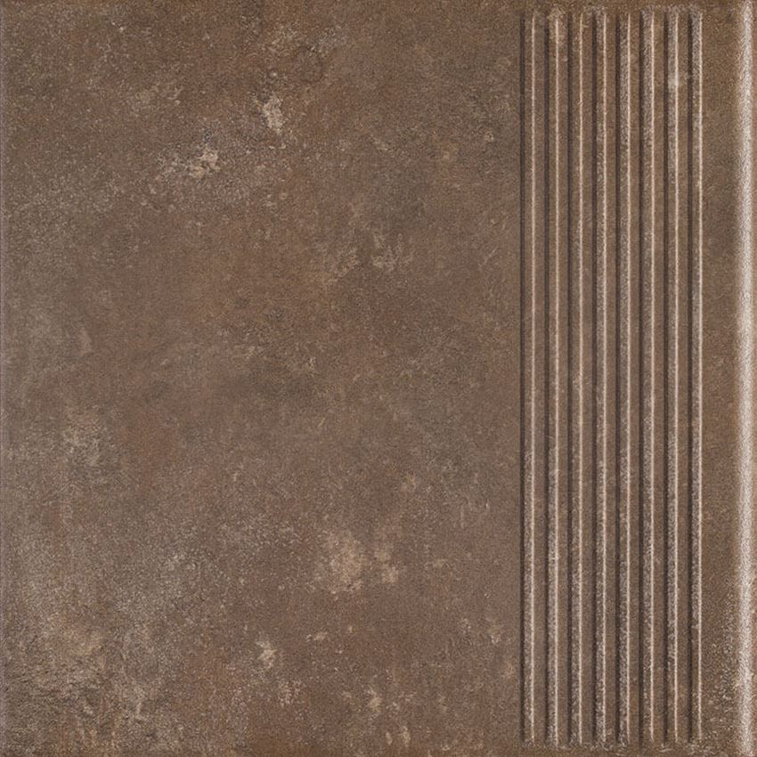 Płytka stopnicowa 30x30 cm Paradyż Ilario Brown Stopnica Prosta