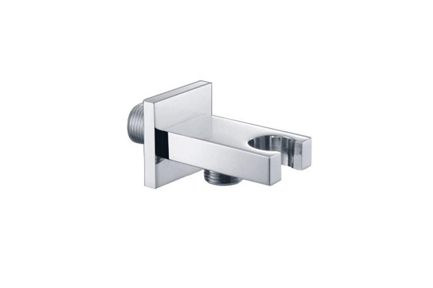 Przyłącze kątowe z mocowaniem słuchawki kwadratowe w zestawie prysznicowo wannowym Excellent Pride ARAC.SET