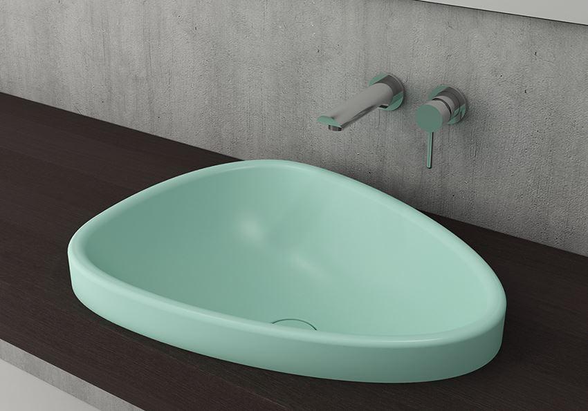 Umywalka nablatowa Matte Mint Green Bocchi Etna