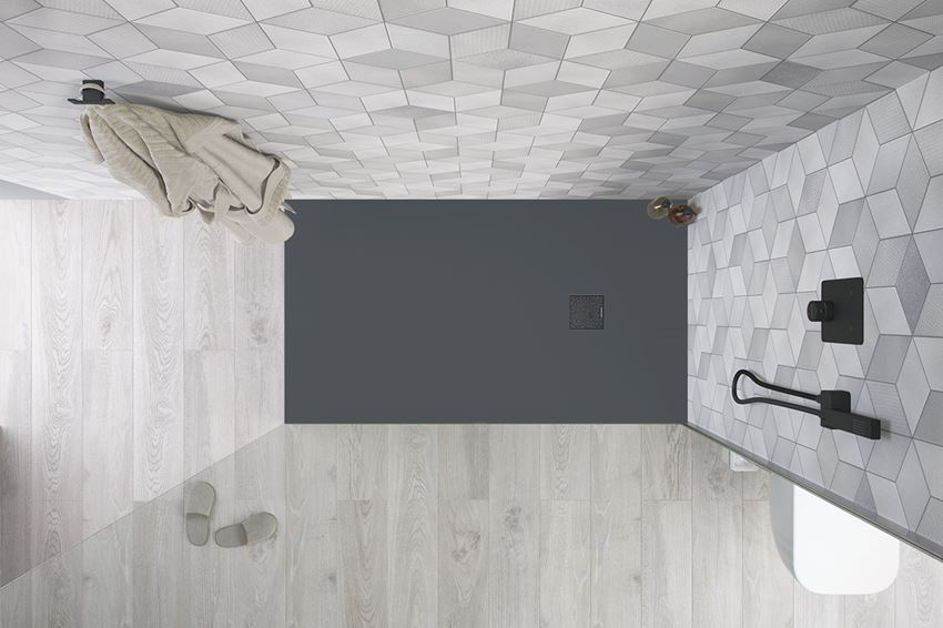 Brodzik prostokątny beton 120x90 cm Excellent Arda