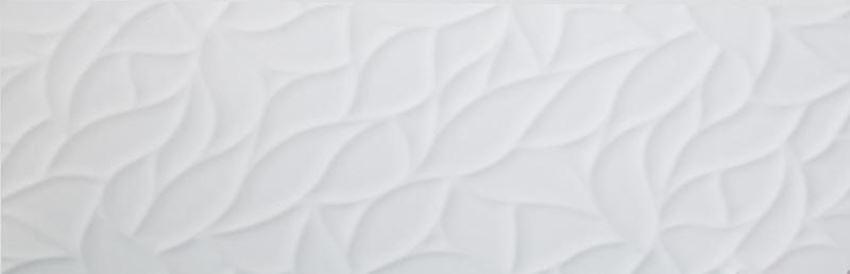 Płytka ścienna dekoracyjna 90x30 cm Azario Zanzibar White Leafs