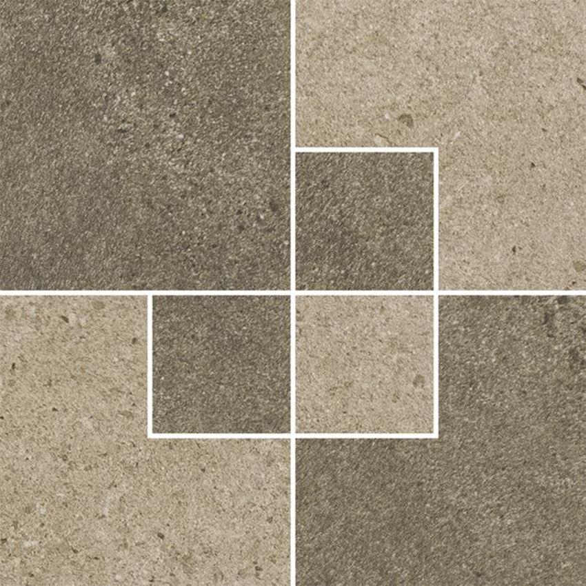 Dekoracja podłogowa Paradyż Optimal Brown Inserto Mat.