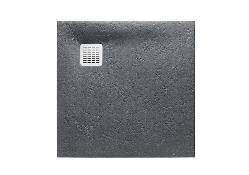 Brodzik kompozytowy STONEX® 100x100x2,8 cm szary łupek Roca Terran