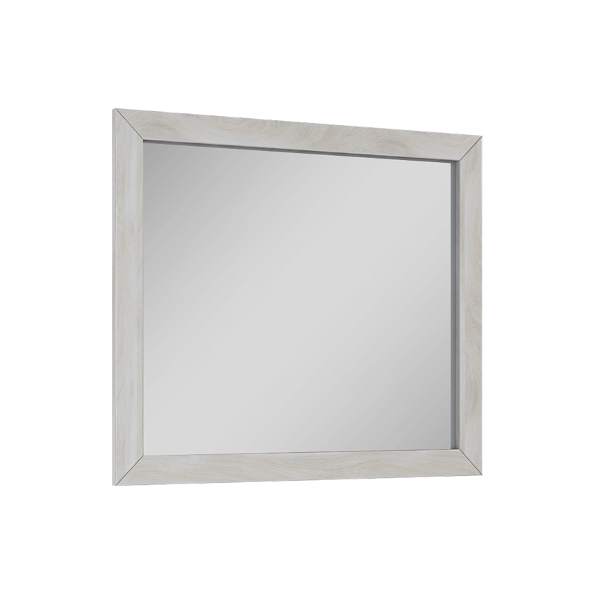 Lustro 80x70 cm białe Elita Santos Oak