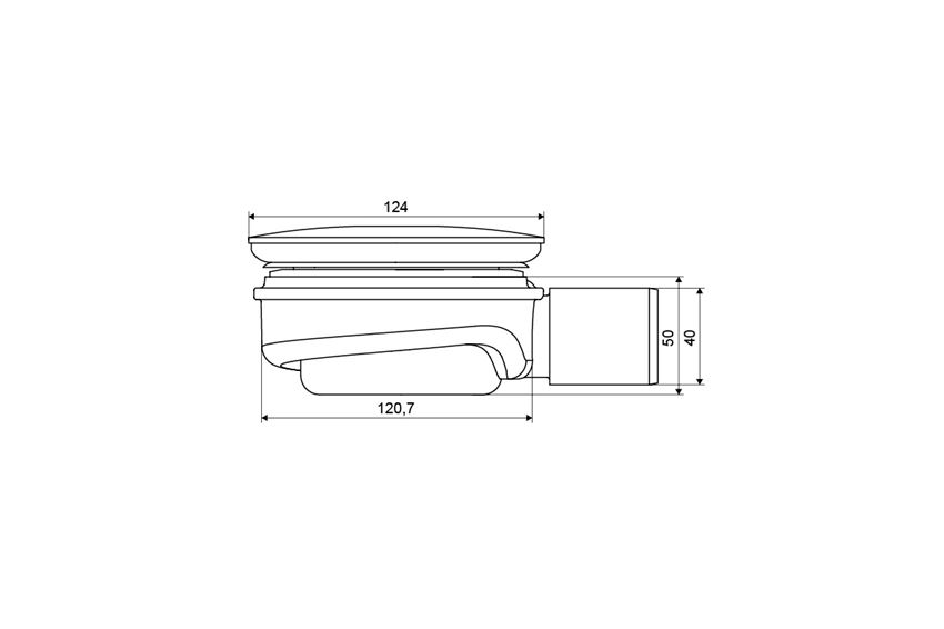 Syfon brodzikowy niski 9 cm Excellent rysunek