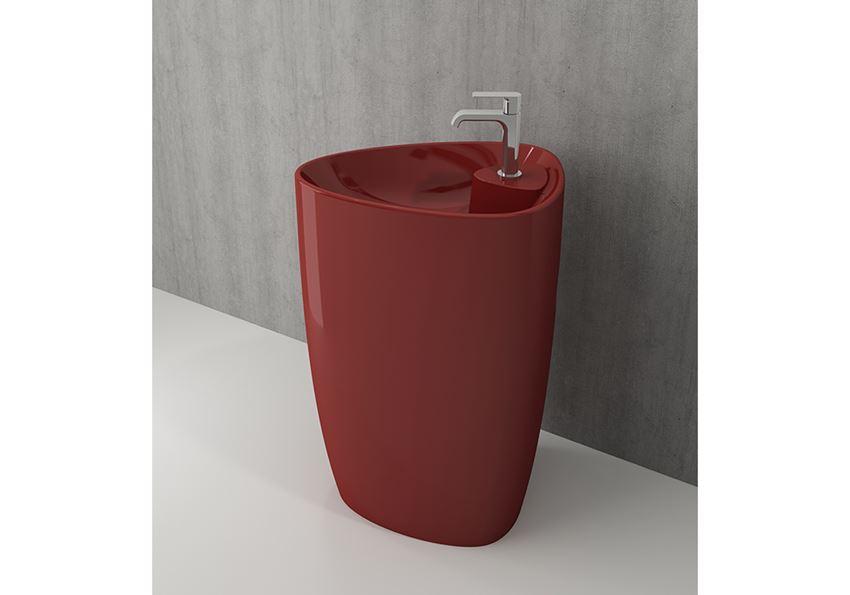 Umywalka monoblok Glossy Red Bocchi Etna