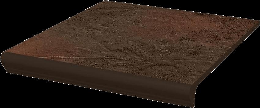 Płytka stopnicowa 30x33 cm Paradyż Semir Brown Kapinos Stopnica Prosta