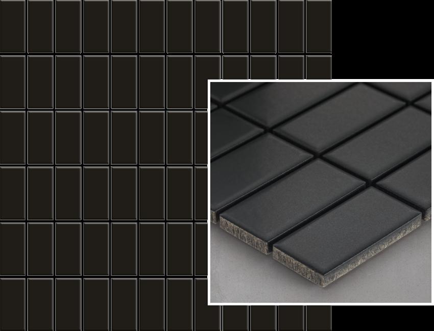 Mozaika 29,8x29,8 cm Paradyż Albir Nero Mozaika Prasowana K.2,3X4,8